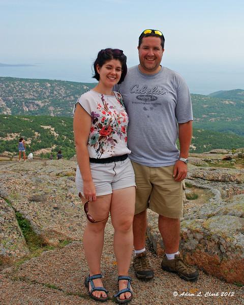 Melissa and I on Cadillac Mountain