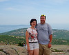 Melissa and I on Cadillac Mountain