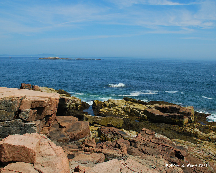 The ocean from next to Thunder Hole