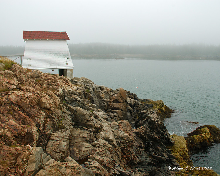 A small out building at Burnt Coat Harbor Lighthouse