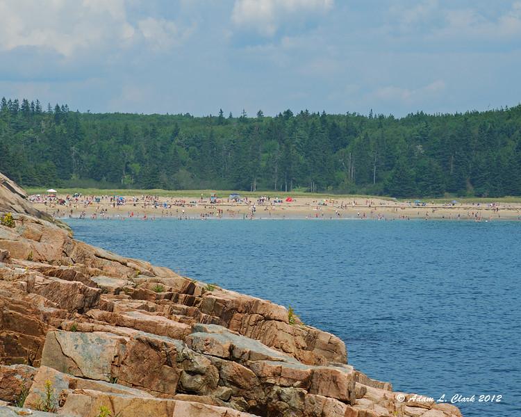 Sand Beach looks a bit busy