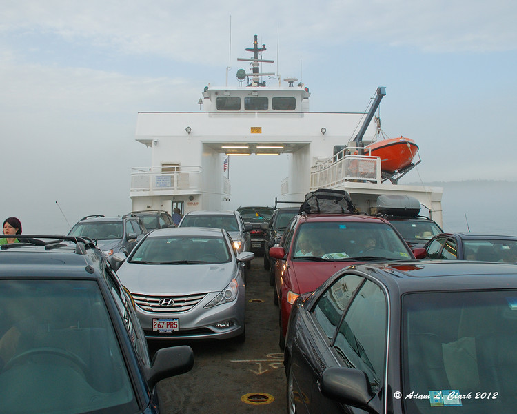They load the ferry right up with as many cars as they can