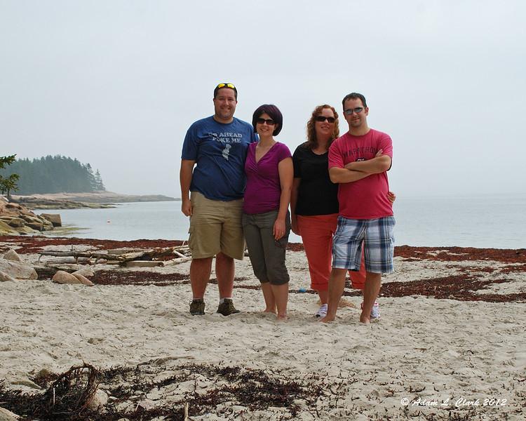 Myself, Melissa, Sandy, and Tim on the beach