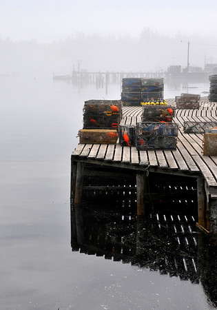 Corea on the Schoodic Penninsula - foggy morning