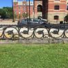 Iron fence near City Hall, Fredericton, New Brunswick, July 20, 2016.