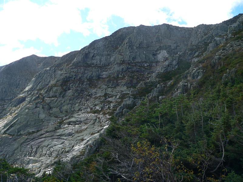 then we go along the ridge...