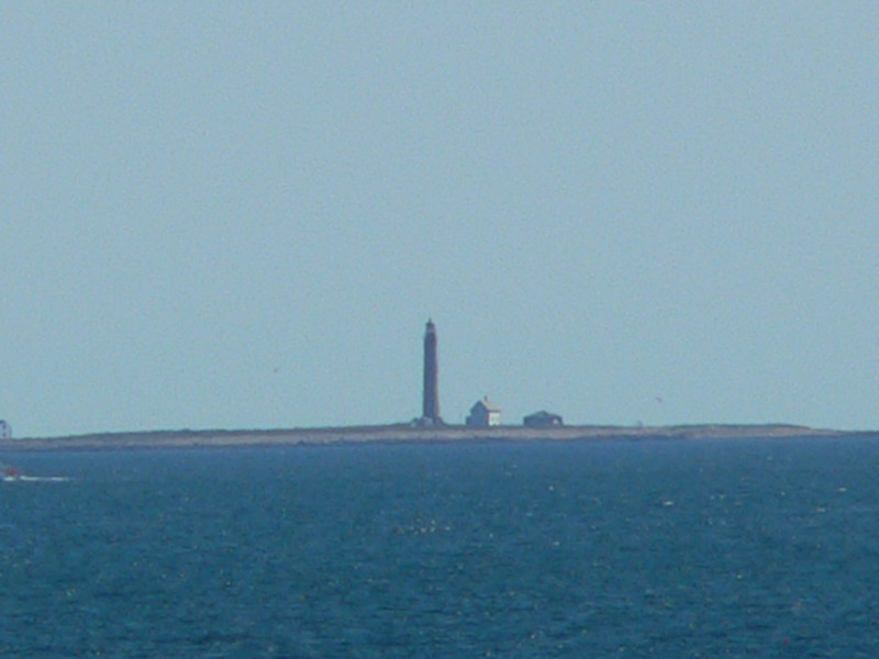 Lighthouse on Petit Manaan Island. I love our zoom!