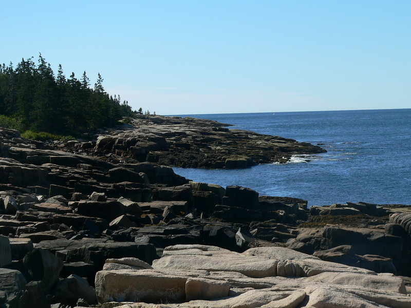 typical Maine coastline