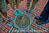 Marker for the Freedom Trail in Boston