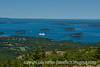 View of Bar Harbor from Cadillac Mountain, Acadia National Park, Maine
