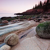 Stones on Otter cliffs coast, Acadia National Park, Maine, USA