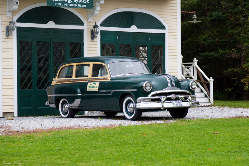 Old car, Pemaquid, Maine, USA