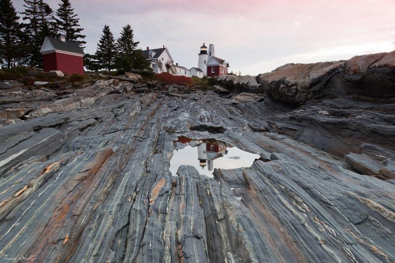 Pemaquid Point lighthouse, Maine, USA