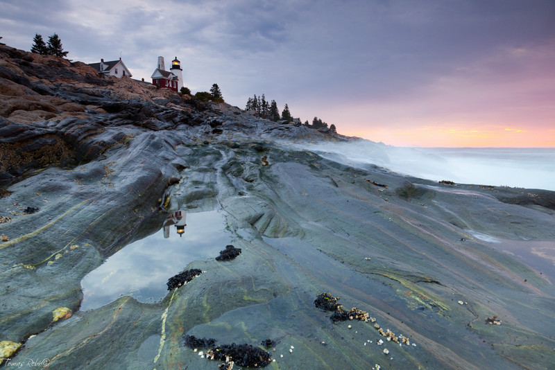 Pemaquid Point lighthouse, Maine, USA