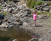 The kids were easily entertained this weekend by throwing small rocks into the water