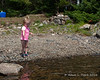 Throwing rocks in the water