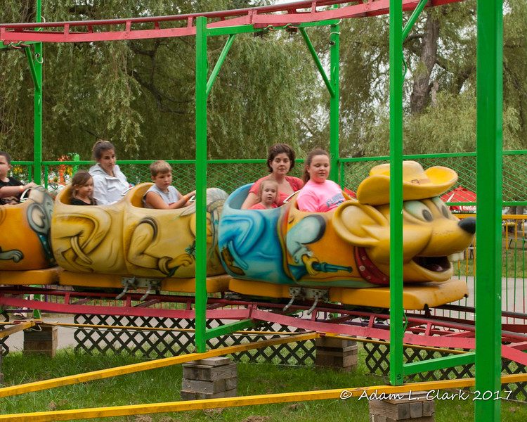 Another ride on the Wacky Mouse roller coaster