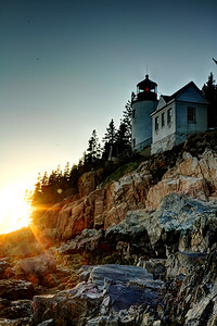 Light House at Sunset