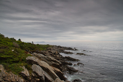 Stormy Sea Coast of Maine