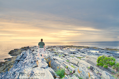 Peaceful Sunrise on the Rocky Coast of Maine