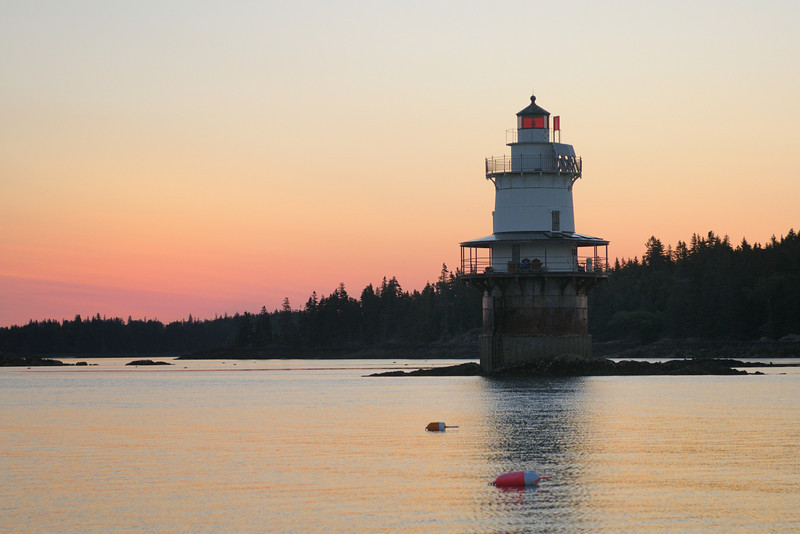 Sunrise at Goose Rocks Lighthouse, Fox Islands Thoroughfare, North Haven, ME