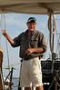 "Capt Nigel ""Twig"" Bower of the ""Heron,"" a 65' John Alden schooner, Rockport Harbor"