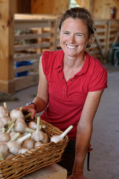 Brenna, head organic gardener at the Turner Farm, North Haven, ME