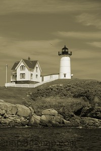 Cape Neddick Nubble in Sepia