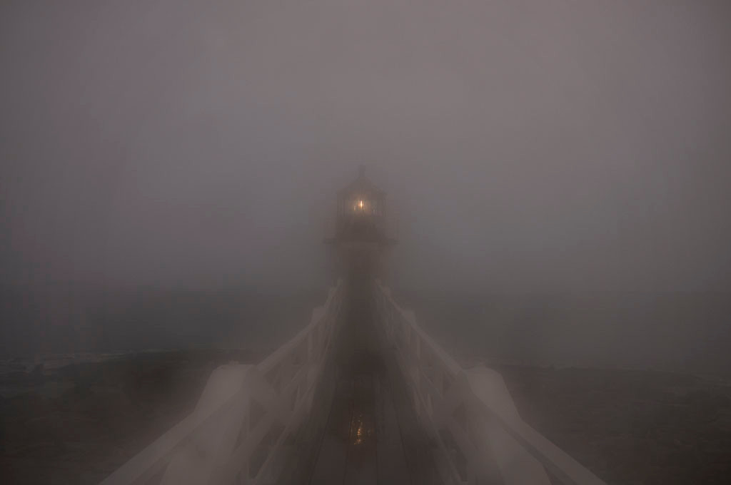Marshall Point Lighthouse in Fog