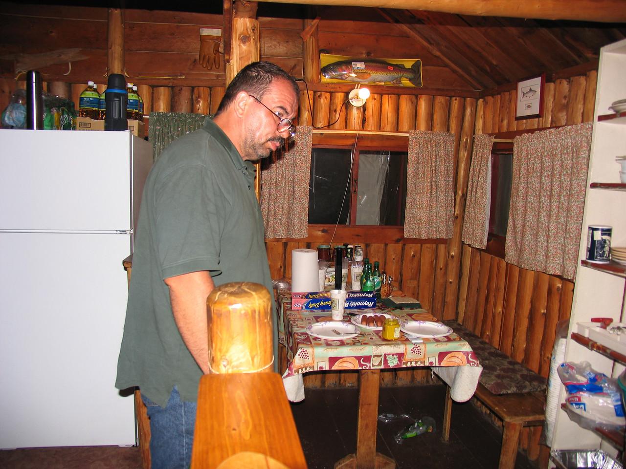 Dinner is served!  Grand Lake Stream - July 2006