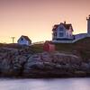 Nubble Lighthouse at sunrise