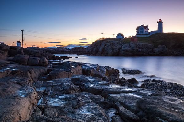Coastline and lighthouse