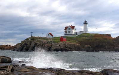 Nubble Light - Surf Breaking