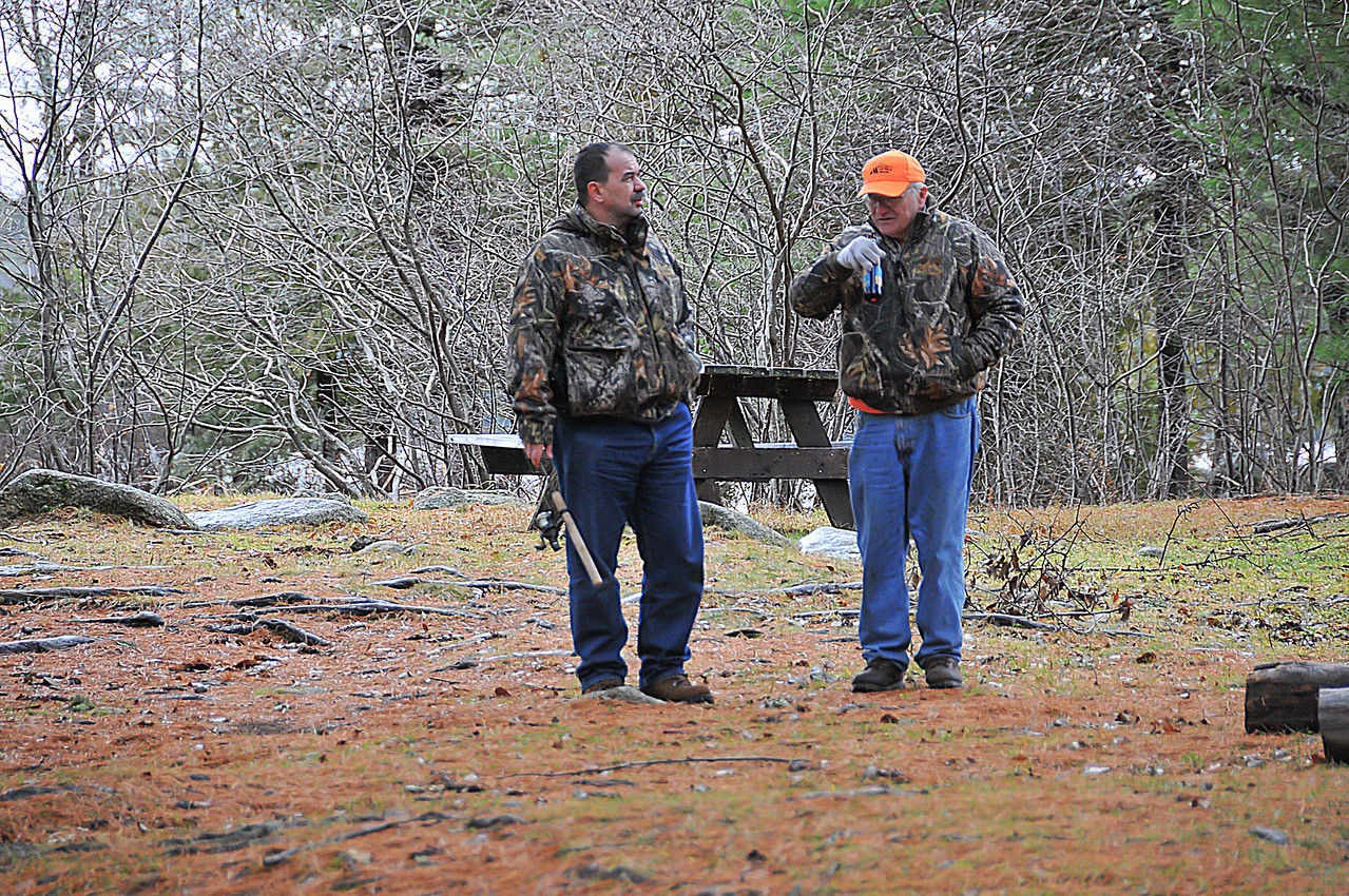 Dinu Iorga and Gary Betz - Grand Lake Stream area - November 2009