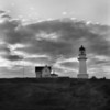 "Two years after I take this image, Minor White would photograph this very lighthouse as a double exposure with a wood pattern that washes over the image like sea foam. Minor would call his image ""Lighthouse and Wood,"" 1970. In 1968 I'm taken by the sky, so, uh, Lighthouse and Sky, 1968."
