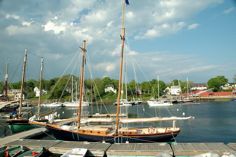 Ship in Camden Harbor