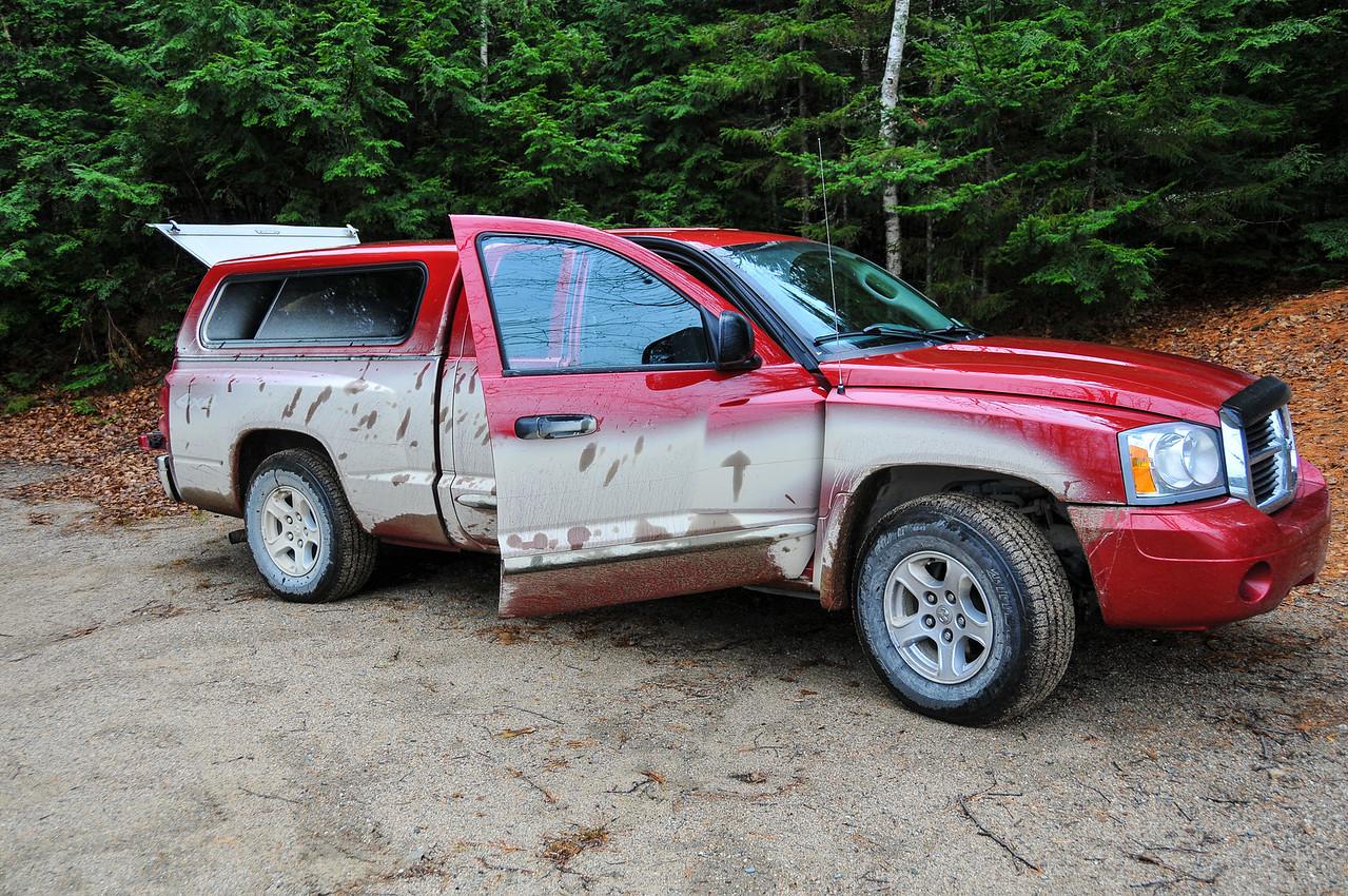 Dirty truck from back-roads near Grand Lake Stream - November 2009