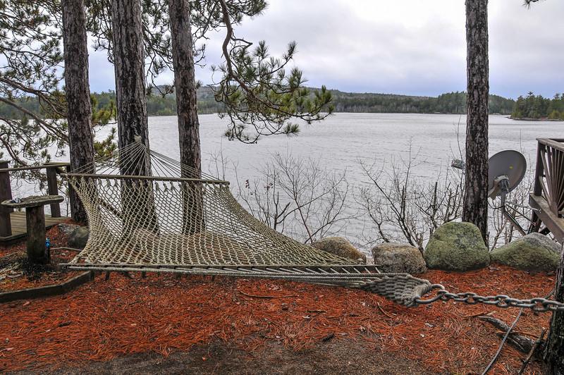 The dream spot for a hammock!  Grand Lake Stream area - November 2009