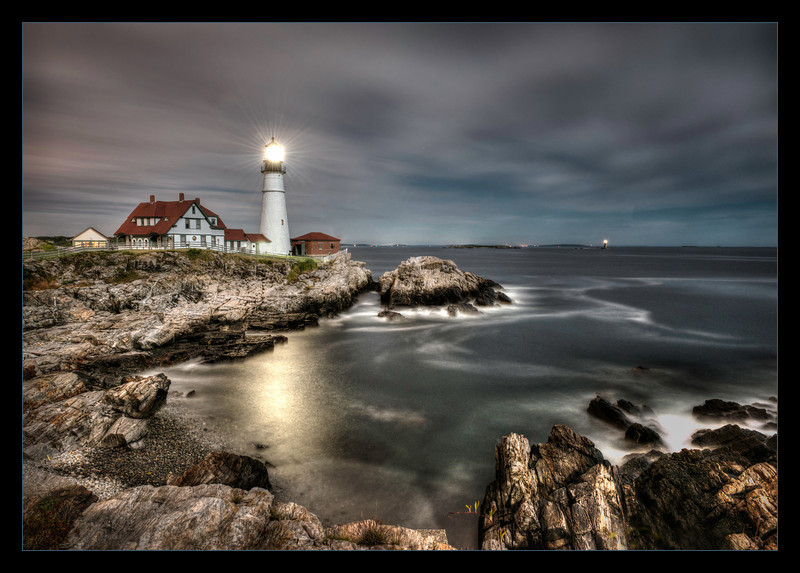 Portland Head Light at Night