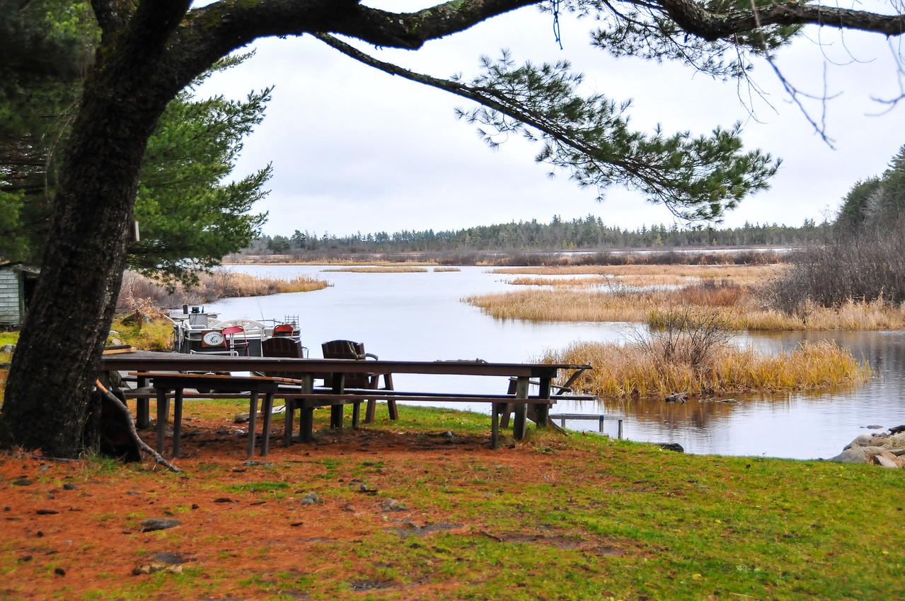 Gary Betz' camp at Grand Lake Stream - November 2009
