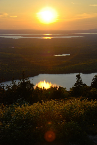 "<span id=""title"">Cadillac Mountain</span> Facing West. Eagle Lake is in the foreground."