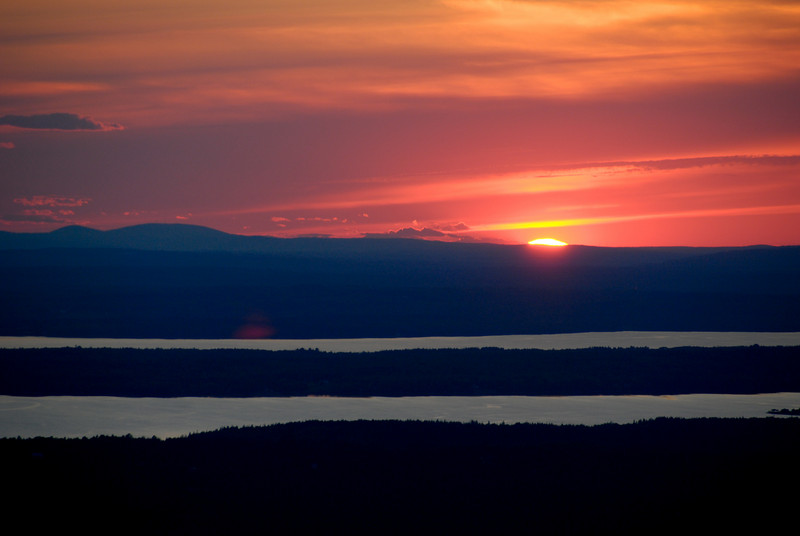 "<span id=""title"">Bye Bye Sun</span> Just before the sun went out of view from Cadillac Mountain."