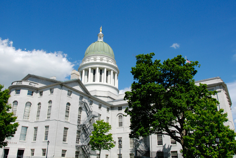 "<span id=""title"">Maine State House</span> Back view"