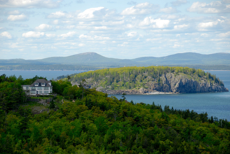 "<span id=""title"">House with a View</span> Taken somewhere along the Park Loop road in Acadia NP. I believe the island in the background is Bar Island."