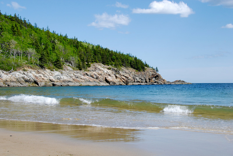 "<span id=""title"">Sand Beach</span> Another shot of Sand Beach, a beautiful place. The sand is mainly comprised of tiny shell fragments."