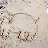 "<span id=""title"">Sand Elephant</span> Drawn in the sand at Sand Beach. Not sure why..."