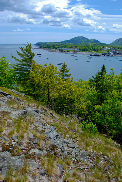 "<span id=""title"">Bar Harbor from Bar Island</span> View across the water after the nice little hike to the top of the island."