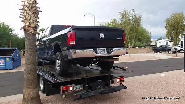 First trip on the flat bed :(