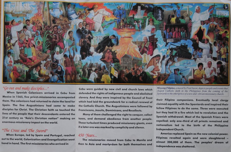 "Inside of brochure. (<a href=""http://wikimapia.org/2603623/Remedios-Jubilee-Mission-Center"">Wikimapia location of Remedios Jubilee Mission Exhibition</a>) Hover your mouse over the right of this photo and click ""original"" to see an enlargement."