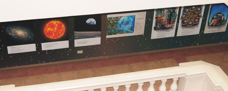 Posters in the hallway leading into the main exhibit set the theological context for mission - in God's plan for redeeming all of creation.